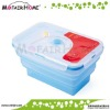 Kitchenware Rectangle foldable silicone food storge container