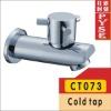 CT073 brass bibcock, bidet cold tap, washing mashine faucet, water bibcock, copper bibcock,tap,garden faucet