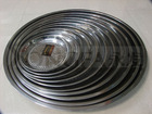 stainless steel food serving tray/tableware