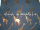 animal pattern poly cotton shiny jacquard fabric 2012