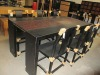 Black auspicious clouds dinning table