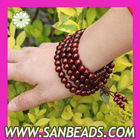 Wholesale 108 Pieces Red wood Beads Buddhist Prayer Bracelets