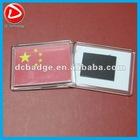 China Flag USA Flag Acrylic fridge magnet photo frame