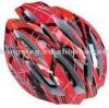 Bicycle helmet cycling helmet in red and black