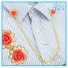 Decorative Cloth Shirt Accessories Jewelry Rhinestone and Metal Collar Chain