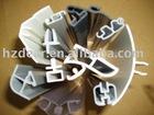 Plastic Extrusion profile,plastic profile,white pvc profile