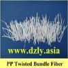 PP twisted bundled fiber,polypropylene cement fiber