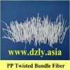 PP twisted bundled fiber,polypropylene cement fiber