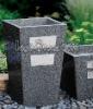 Granite square garden Planter
