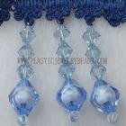 Bicone gem beaded fringe|fringe lace with bicone gem|bicone beaded fringe maker|