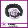 Purple Rhinestone woven adjustable paved shamballa rings