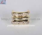 Gold Ring With Crystal Stone