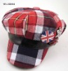 PLAID CUTE NEWSBOY CAP