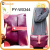 eco-friendly cowhide leather shoulder bag for ipad