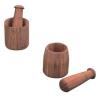 bamboo mortar & pestle