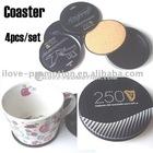 Cork Coaster / Cork Cup Mat in Tin Box
