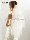 (VEIL 14) 2012 White/Ivory Two Layer Short Bridal Veil