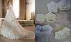 2012 White/Ivory Flower Bridal Veils