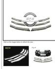 2008-2011 Chrome Front Grill Grille Trims Kit For Honda Accord 4DR Sedan 6 Pcs
