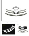 2008-2011 Chrome Front Grill Grille Trims Kit For Honda Accord 4DR Sedan 6 Pcs