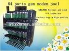 Bulk SMS sending device 1/8/16/32/64 port GSM modem,gsm 64 ports modem