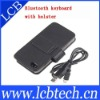 Leather Case Mini Mobile Phone Wireless Bluetooth Keyboard with for iPhone 4
