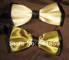 gold polyester mens bow tie