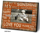Orange Rustic Wood Frame With Letter Pattern