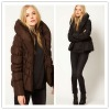 Padded Shawl Collar Belted Coat,winter coat