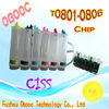 Christmas Discount T0801-0806 CISS For E-pson PX700W/PX710W/PX800FW/PX810/PX650/PX50/PX660/PX720WD/PX730WD Inkjet Printer