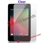 Privacy Screen Protector For ASUS Google Nexus 7 Tablet (Clear)