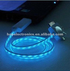 3-in-1 Flex EL Visible Light Charging Sync USB Cable for iPhone, Mini USB, Micro USB