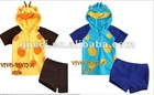 Baby & Kids Clothing with hooded polka dot children's romper swimming suit swim wear