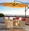 Outdoor furniture-Advertising yellow parasol on sale for anti solar