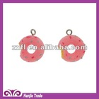 #4-3030 DIY New Kawaii Resin Lucite Charms Cherry Cake Beads Resin Pendant Findings 15mm for Kids