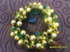 artificial fir and plastic wreath