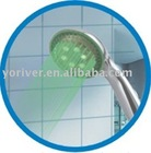 singer colors led shower head hand shower with led color changed by temperature