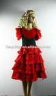 red Spanish dancer dress