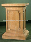 beige marble carved column and pillars