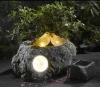 polyresin brid solar garden light