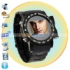 Black Quad Band1.3 Inch Screen Watch Cell Phone with Camera