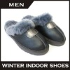 Waterproof fashion slipper men double face sheepskin winter slippers