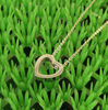 Sainless steel small heart pendant necklace