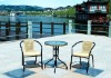 outdoor leisure rattan/wicker chair and glass table furniture