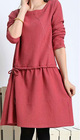 2012 Autumn Loose knited Pure Color O-Collar Korea-style winter dresses