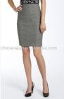 Eye-catching grey pencil skirt for lady uniform