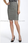 Eye-catching grey pencil skirt for lady uniform