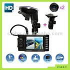 2012 new full HD VGA Car DVR with two Camera and Split Screen