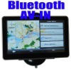 5 inch Car GPS Navigation + Bluetooth + AV-IN +FM +MP3 MP4 + 4GB memory + free Map
