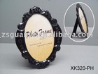 Black glass with bevelling handmade photo frame